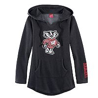 Women's Campus Heritage Wisconsin Badgers Hooded Tunic