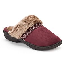 Women's isotoner Nola Microsuede Clog Slippers