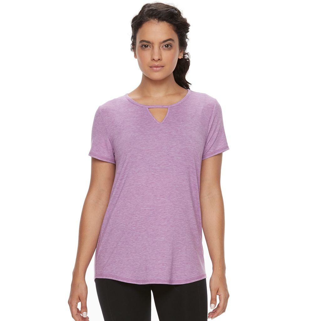 Women's Tek Gear® Knotch Neck Performance Tee