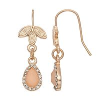 LC Lauren Conrad Leafy Nickel Free Halo Teardrop Earrings