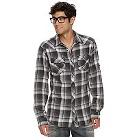 Big & Tall Rock & Republic Plaid Roll-Tab Flannel Button-Down Shirt