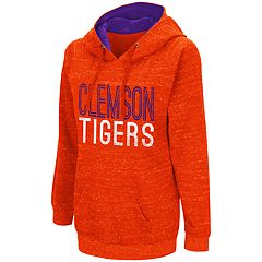 Women's Campus Heritage Clemson Tigers Throw-Back Pullover Hoodie