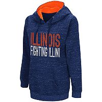 Women's Campus Heritage Illinois Fighting Illini Throw-Back Pullover Hoodie