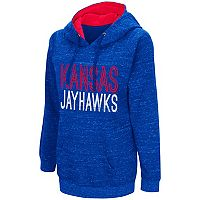 Women's Campus Heritage Kansas Jayhawks Throw-Back Pullover Hoodie