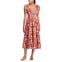 Women's Chaps Print Short Sleeve Dress