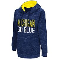 Women's Campus Heritage Michigan Wolverines Throw-Back Pullover Hoodie