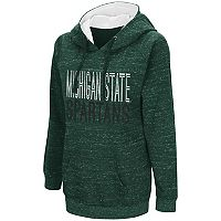 Women's Campus Heritage Michigan State Spartans Throw-Back Pullover Hoodie
