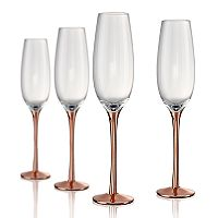 Artland Coppertino 4-pc. Champagne Flute Set