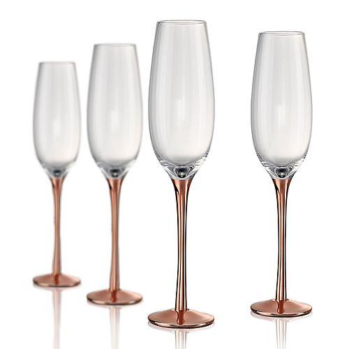 Artland Coppertino 4-pc. Champagne Flute Set