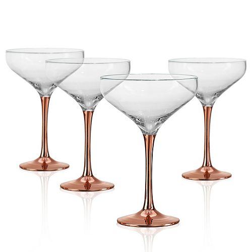 Artland Coppertino 4-pc. Champagne Coupe Set