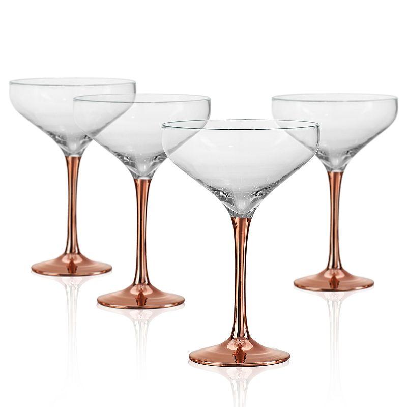 Artland Coppertino 4-pc. Champagne Coupe Set, Clrs