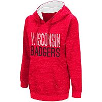 Women's Campus Heritage Wisconsin Badgers Throw-Back Pullover Hoodie