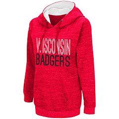 Women's Campus Heritage Wisconsin Badgers Throw-Back Pullover Hoodie