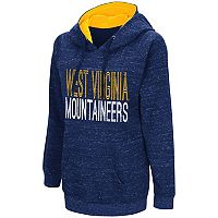 Women's Campus Heritage West Virginia Mountaineers Throw-Back Pullover Hoodie