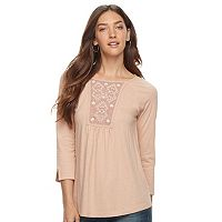 Women's SONOMA Goods for Life™ Embroidered Yoke Top