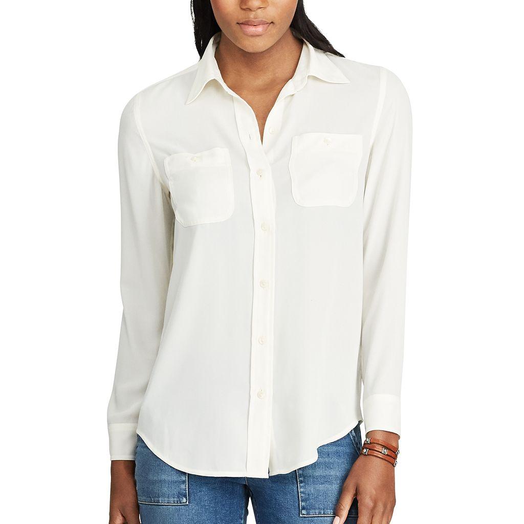 Women's Chaps Georgette Button-Up Shirt