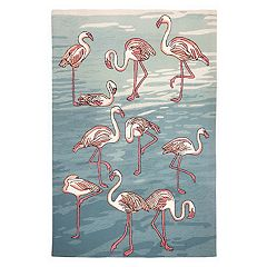 Liora Manne Frontporch Flamingo Indoor Outdoor Rug