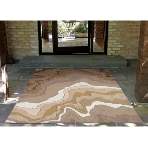 Liora Manne Ravella Mykonos Abstract Indoor Outdoor Rug
