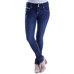 Juniors' Amethyst Curvy Faded Jeggings