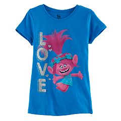 DreamWorks Trolls Poppy Girls 7-16 'LOVE' Glitter Graphic Tee