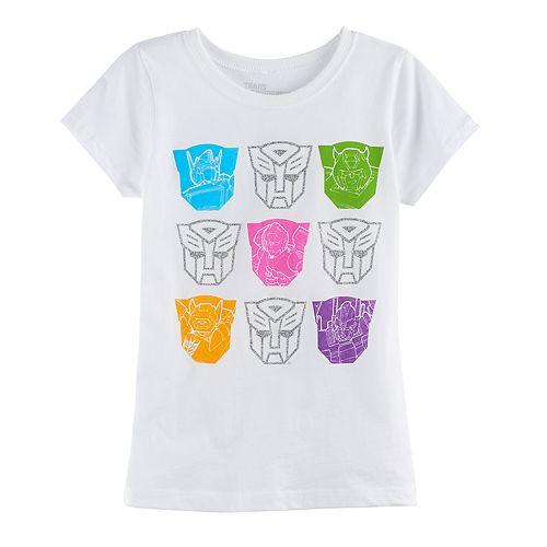 Girls 7-16 Transformers Glitter Graphic Tee