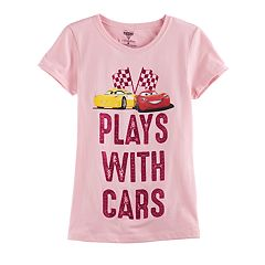 Disney / Pixar Cars 3 Lightening McQueen & Cruz Ramirez Girls 7-16 'Plays With Cars' Graphic Tee