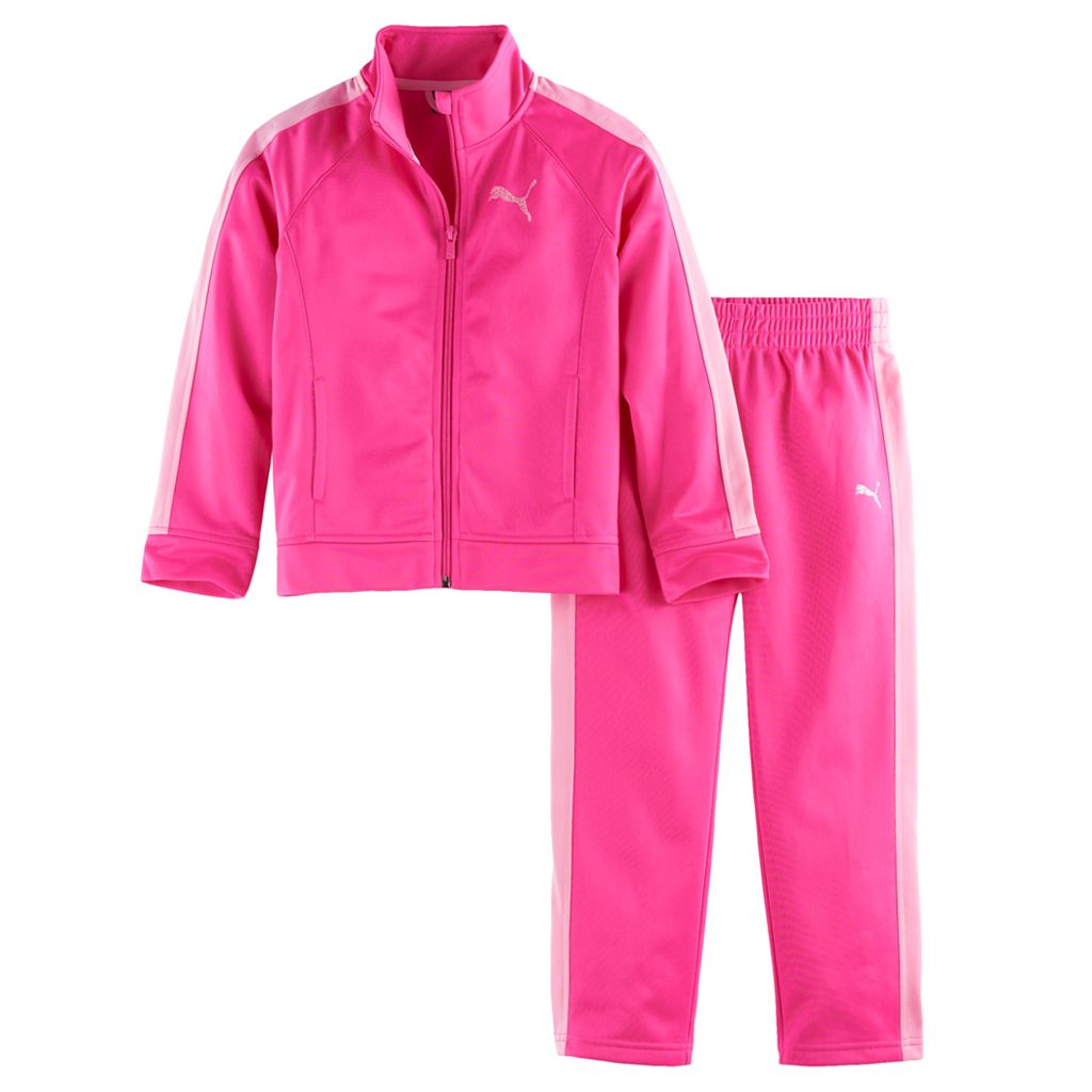 Toddler Girl PUMA Colorblock Jacket & Pants Set
