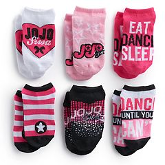 Girls 4-16 JoJo Siwa 6 pkNo-Show Socks
