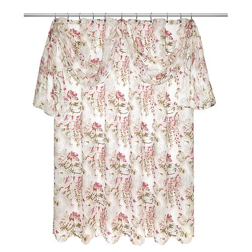 Popular Bath Secret Garden Shower Curtain & Valance