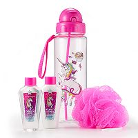 Girls 4-16 Unicorn Water Bottle & Wash Set