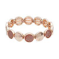 Glittery Circle Station Stretch Bracelet