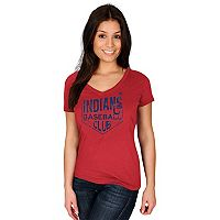 Women's Majestic Cleveland Indians Baseball Club Tee