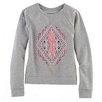 Girls 7-16 & Plus Size Mudd® Graphic Pullover Sweatshirt