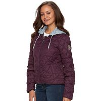 madden NYC Juniors' Packable Hooded Bomber Jacket