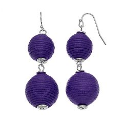 Thread Wrapped Nickel Free Crispin Drop Earrings
