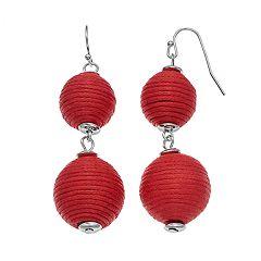 Thread Wrapped Nickel Free Crispin Drop Earrings