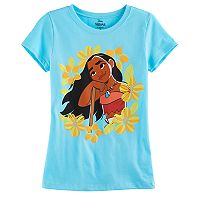 Disney's Moana Girls 7-16 Tropical Flowers Graphic Tee