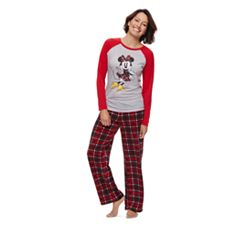 Disney's Minnie Mouse Women's Top & Microfleece Bottoms Pajama Set by Jammies For Your Families