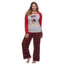 Disney's Minnie Mouse Women's Plus Top & Microfleece Bottoms Pajama Set by Jammies For Your Families