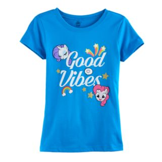 "Girls 7-16 My Little Pony Pinkie Pie & Rarity ""Good Vibes"" Graphic Tee"