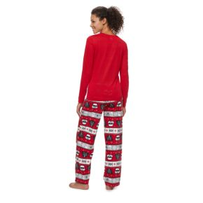 Women's Jammies For Your Families Star Wars Darth Vader & Stormtrooper Fairisle Top & Microfleece Bottoms Pajama Set