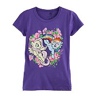 Girls 7-16 My Little Pony Rainbow Dash & Fluttershy Flower Graphic Tee