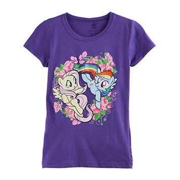 Girls 7-16 My Little Pony Rainbow Dash & Fluttershy Flower Graphic Tee