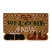 "Mohawk® Home ""Welcome Santa"" Shoes Coir Doormat - 18"" x 30"""