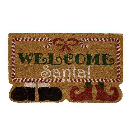 "Mohawk® Home ""Welcome Santa"" Shoes Coir Doormat - 18"" x 30"""