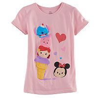 Disney's Tsum Tsum Stitch, Piglett, Ariel & Minnie Mouse Girls 7-16 Graphic Tee