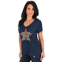 Women's Majestic Houston Astros Check the Win Tee