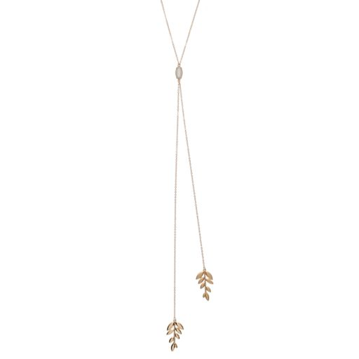 LC Lauren Conrad Leaf Y Necklace