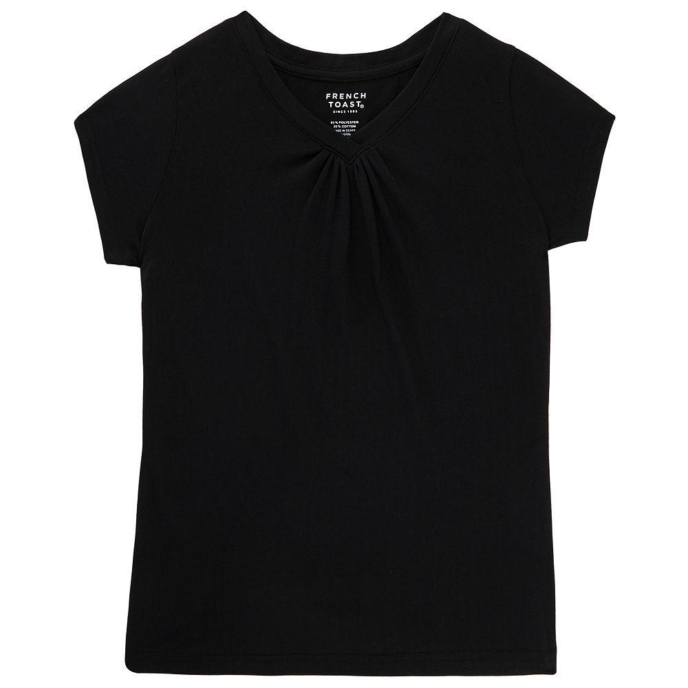 Black t shirts kohls - Girls 7 16 Plus Size French Toast V Neck Tee