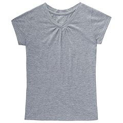 Girls 7-16 & Plus Size French Toast V-Neck Tee